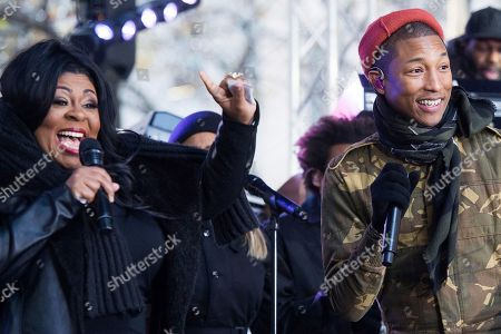 Editorial image of Pharrell Performs on NBC's Today Show, New York, USA