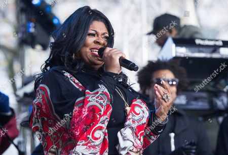 "Kim Burrell performs on NBC's ""Today"" show at Rockefeller Plaza, in New York"