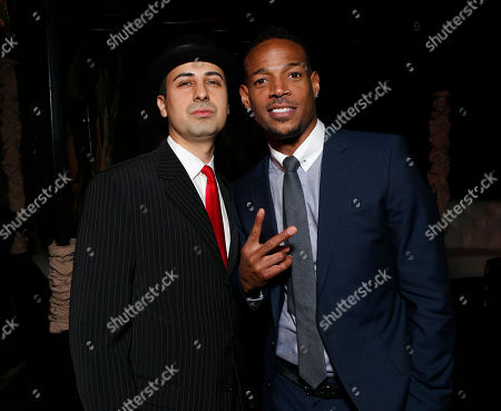 """Keya Morgan and Marlon Wayans attend the premiere of """"A Haunted House"""" at the Arclight Hollywood, in Los Angeles"""