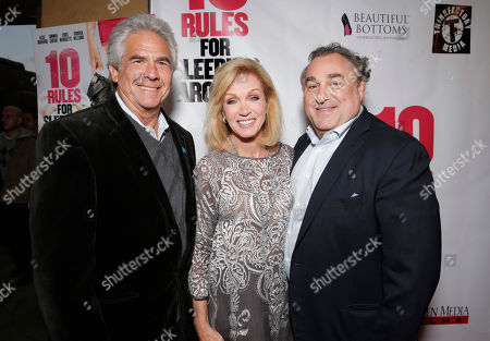 Larry Gilman, Donna Mills and Leslie Greif attend the premiere of Screen Media Films' '10 Rules For Sleeping Around' at the Egyptian Theatre on in Hollywood, California