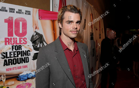 Reid Ewing attends the premiere of Screen Media Films' '10 Rules For Sleeping Around' at the Egyptian Theatre on in Hollywood, California