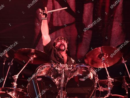 Vinnie Paul of the band Hellyeah performs in concert during the 2015 Rockstar Energy Drink Mayhem Festival at the Susquehanna Bank Center, in Camden, N.J
