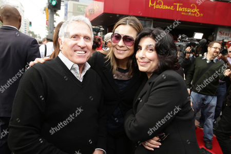 Dan Fellman, President of Domestic Distribution for Warner Bros. Pictures, Veronika Kwan Vandenberg, President of Worldwide Distribution for Warner Bros. Pictures, and Sue Kroll, President of Worldwide Marketing and Distribution for Warner Bros. Pictures, seen at Ron Howard honored with star on the Hollywood Walk of Fame, in Hollywood, CA
