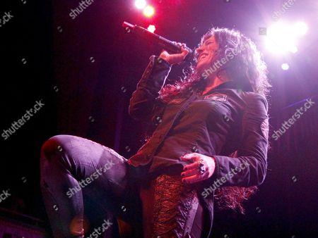 Christina Scabbia Italian heavy metal band Lacuna Coil opened for Sevendust at The Tabernacle, in Atlanta, GA