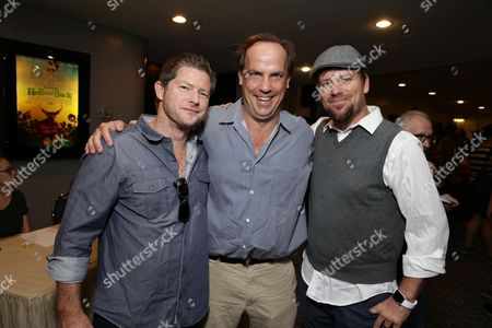 "Producer Corey Campodonico, John Farley and Co-Director Ross Shuman seen at Shadow Machine's ""Hell and Back"" Special Screening, in Los Angeles, CA"