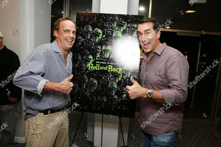 """Stock Image of John Farley and Rob Riggle seen at Shadow Machine's """"Hell and Back"""" Special Screening, in Los Angeles, CA"""