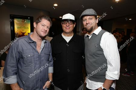 "Stock Picture of Producer Corey Campodonico, Co-Director Tom Gianas and Co-Director Ross Shuman seen at Shadow Machine's ""Hell and Back"" Special Screening, in Los Angeles, CA"