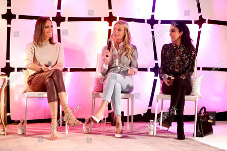 Louise Roe, Morgan Stewart and Lilly Ghalichi seen at Simply Stylist Los Angeles fashion and beauty conference presented by Citi and The Grove at, in Los Angeles, CA