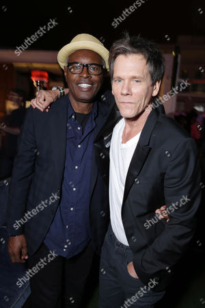 Stock Picture of John Lafayette and Kevin Bacon attend the 'Superman' 75th Anniversary Party on Day 3 of 2013 Comic-Con International Convention on in San Diego, Calif