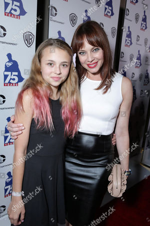 Catherine Clarke and Melinda Clarke attend the 'Superman' 75th Anniversary Party on Day 3 of 2013 Comic-Con International Convention on in San Diego, Calif