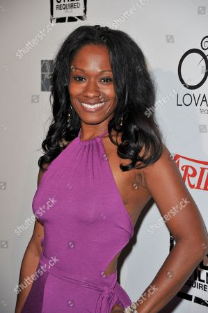 Stock Image of Okera Banks attends The Big Easy Juke Joint Party at Bugatta Restaurant, in Los Angeles