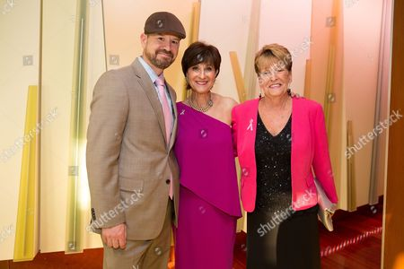 Bob Wahlberg, Breast Cancer Research Foundation President Myra Biblowit and Alma Wahlberg attend the Breast Cancer Research Foundation's 10th Anniversary Boston Hot Pink Party 2015 at the Seaport World Trade Center on in Boston, Massachusetts
