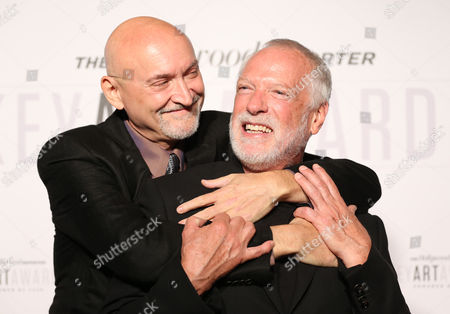 Drew Struzan, right, and Frank Darabont attend The Hollywood Reporter Key Art Awards Powered by Clio at the Dolby Theatre, in Los Angeles