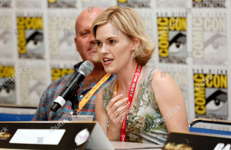 """Kari Wahlgren participates in the """"Kaijudo: Rise of the Duel Masters"""" panel at Comic-Con, in San Diego, Calif"""