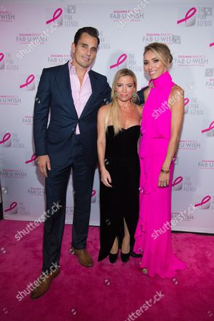 Bill Rancic, from left, Tracy Anderson, and Giuliana Rancic attend The Pink Agenda's annual benefit gala at Three Sixty, in New York