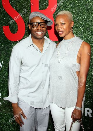 """Hip Hop artist Dana Dane and wife seen at The Shade Room's """"Shades of Eden"""" 1st Anniversary Celebration at a private mansion on Saturday, June 4th, 2016, in Los Angeles, California"""