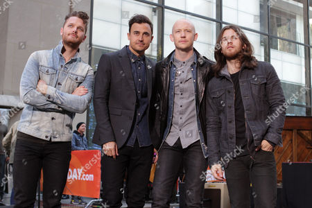 "From left, Ben Wysocki, Joe King, Isaac Slade and Dave Welsh of The Fray perform on NBC's ""Today"" show on in New York"