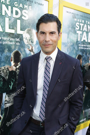 David DeSantos seen at The World Premiere of Tri Star Pictures' 'When The Game Stands Tall' at ArcLight Cinemas Hollywood, in Los Angeles