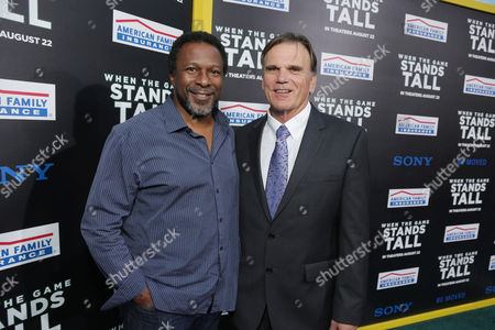 Director Thomas Carter and Coach Bob Ladouceur seen at The World Premiere of Tri Star Pictures' 'When The Game Stands Tall' at ArcLight Cinemas Hollywood, in Los Angeles