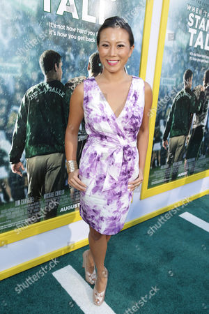 Angela Sun seen at The World Premiere of Tri Star Pictures' 'When The Game Stands Tall' at ArcLight Cinemas Hollywood, in Los Angeles