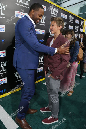 Ser'Darius Blain and Gavin Casalegno seen at The World Premiere of Tri Star Pictures' 'When The Game Stands Tall' at ArcLight Cinemas Hollywood, in Los Angeles