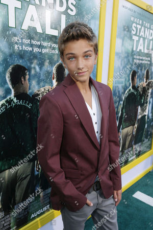 Gavin Casalegno seen at The World Premiere of Tri Star Pictures' 'When The Game Stands Tall' at ArcLight Cinemas Hollywood, in Los Angeles