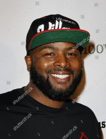 Editorial photo of UK X Factor singing sensation Luigiano Paals single release party for Girls, Girls, Girls, featuring Snoop Lion, Hollywood, USA