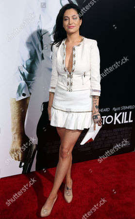 """Porcelain Black arrives at the premiere of """"3 Days to Kill"""" on in Los Angeles"""