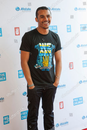 Jacob Artist walks the We Day Red Carpet for We Day Illinois 2015 at Allstate Arena on in Chicago