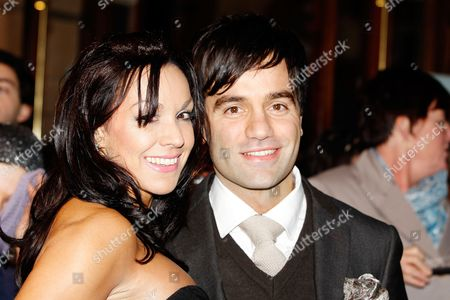 Ramin Karimloo and guest seen at the Whatsonstage.com Theatregoers' Choice Awards at The Palace Theatre, in London