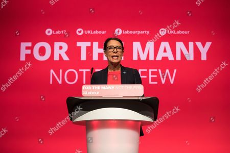 Debbie Abrahams speaks at the Labour Party Conference at The Brighton Centre.