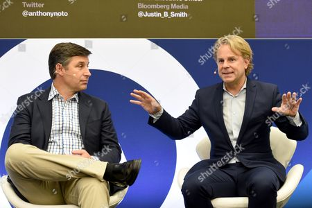 Anthony Noto (COO, Twitter) and Justin B Smith (CEO, Bloomberg Media Group)