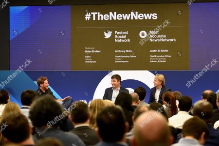 Brian Braiker (Editor, Ad Age), Anthony Noto (COO, Twitter), Justin B Smith (CEO, Bloomberg Media Group)