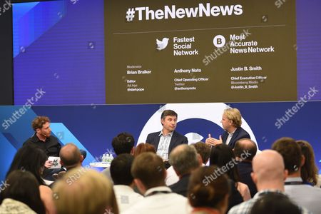 Editorial picture of Bloomberg and Twitter: The New News seminar, Advertising Week New York 2017, NASDAQ MarketSite, New York, USA - 27 Sep 2017