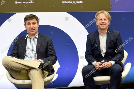 Stock Image of Anthony Noto (COO, Twitter) and Justin B Smith (CEO, Bloomberg Media Group)