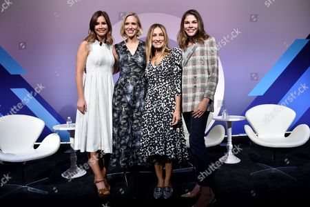Rebecca Jarvis (Chief Business, Technology and Economics Correspondent at ABC News and Creator 'No Limits with Rebecca Jarvis' Podcast), Sarah Jessica Parker, Marne Levine (COO, Instagram), Emily Weiss (Founder and CEO, Glossier)