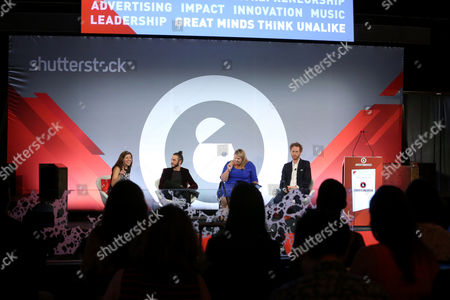 Laura Petrecca (Business Reporter, USA TODAY), Andrew Panay (CEO Panay Films and Founder Blk-Ops, Panay Films), Kathleen Hall (VP Corporate Brand, Advertising and Research, Microsoft), Brian Klugman (Writer, Actor, Director and Head of Creative, Blk-Ops)