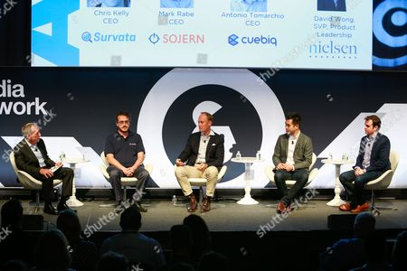 Scott McDonald (President and CEO, ARF), Antonio Tomarchio (CEO, Cuebiq), Mark Rabe (CEO, Sojern), David Wong (SVP, Product Leadership, Nielsen Watch), Chris Kelly (CEO, Survata)