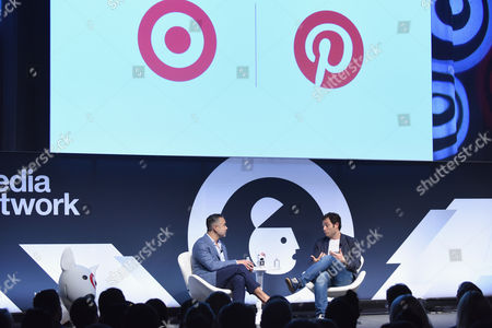 Stock Picture of Rick Gomez (EVP and CMO, Target), Tim Kendall (President, Pinterest)