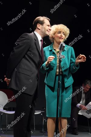 Stock Image of Robin Sebastian as Kenneth Williams and Emma Atkins as Joan Sims