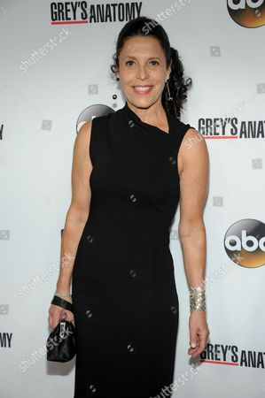 "Linda Lowy arrives at ""Grey Anatomy"" 200th Episode event at The Colony on in Los Angeles"