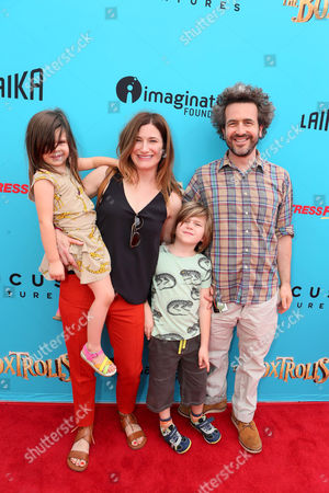 "Stock Photo of Mae Sandler, Kathryn Hahn, Leonard Sandler, Ethan Sandler seen at ""THE BOXTROLLS"" LOS ANGELES PREMIERE Presented by LAIKA AND FOCUS FEATURES To Benefit the Imagination Foundation, in Universal City, Calif"