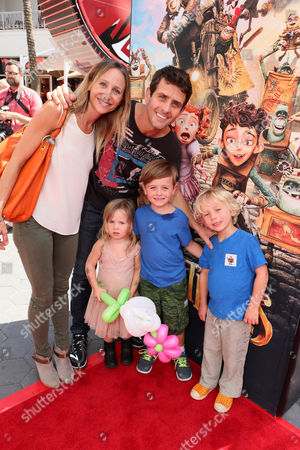 "Barrett Williams and Joey McIntyre seen at ""THE BOXTROLLS"" LOS ANGELES PREMIERE Presented by LAIKA AND FOCUS FEATURES To Benefit the Imagination Foundation, in Universal City, Calif"