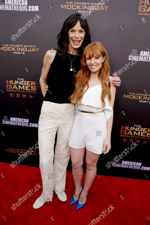 "Eugenie Bondurant and Stef Dawson seen at ""The Hunger Games"" Fan Marathon at The Egyptian Theatre, in Los Angeles, CA"
