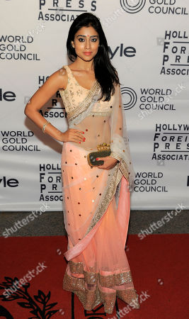 Actress Shriya Saran arrives at the 13th Annual InStyle and Hollywood Foreign Press Association Toronto International Film Festival Party, in Toronto