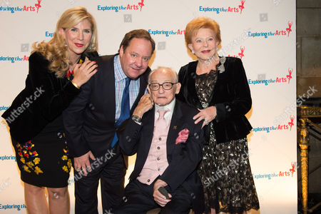 L-R) Margo MacNabb Nederlander, James L. Nederlander, James M. Nederlander and Charlene Nederlander attend the 8th Annual Exploring The Arts Gala benefit at Cipriani 42nd Street, in New York