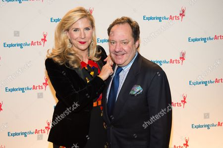 Stock Image of Margo MacNabb Nederlander and James L. Nederlander attend the 8th Annual Exploring The Arts Gala benefit at Cipriani 42nd Street, in New York