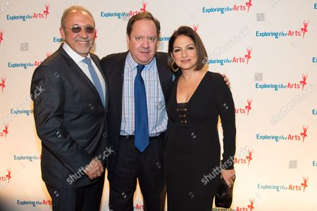 Stock Photo of L-R) Emilio Estefan, James L. Nederlander and singer Gloria Estefan attends the 8th Annual Exploring The Arts Gala benefit at Cipriani 42nd Street, in New York