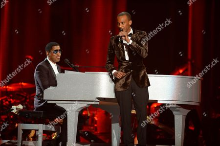 Stock Photo of Kenny 'Babyface' Edmonds and Tevin Campell perform at the 2015 Soul Train Awards at the Orleans Arena on Friday, Nov. 6th, 2015, in Las Vegas