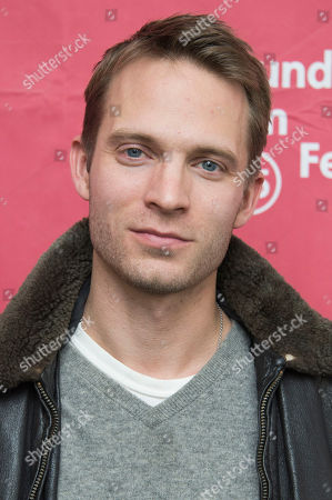 """Actor David Call poses at the premiere of """"James White"""" during the 2015 Sundance Film Festival, in Park City, Utah"""